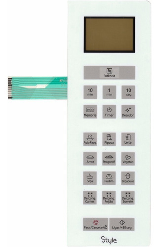 membrana teclado microondas panasonic nnst654w nn st654w