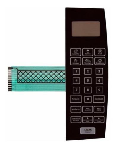 membrana teclado microondas philco pme22 pme 22 preta (736)