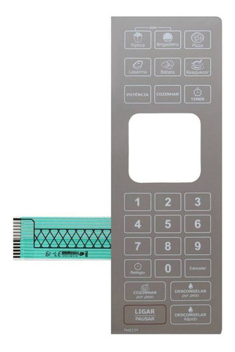 membrana teclado microondas philco pme25v pme 25v espelhada