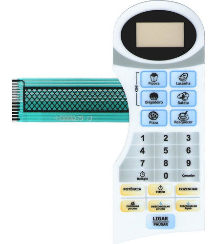 membrana teclado microondas philco pms25n2
