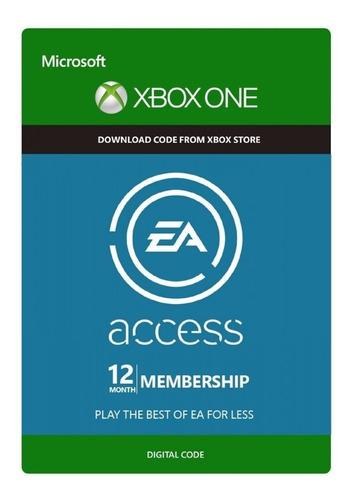 membresía 12 meses ea access xbox one codigo digital