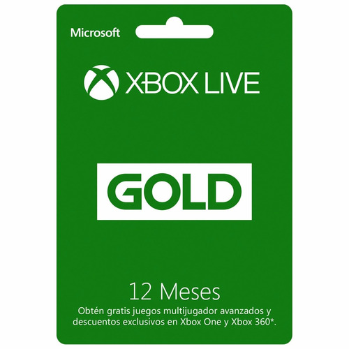 membresia 12 meses xbox live gold