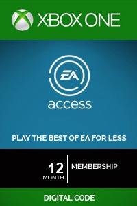 membresía a ea access - 12 meses codigo digital para xbox