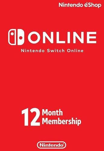 membresía nintendo switch online 12 meses