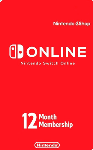 membresia nintendo switch online 12 meses digital