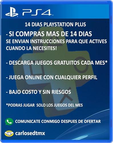 membresia playstation plus psn 14 dias online juegos julio