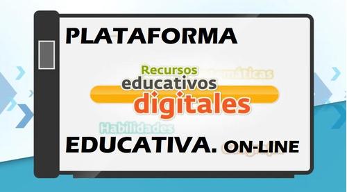 membresía por un año plataforma educativa escolar