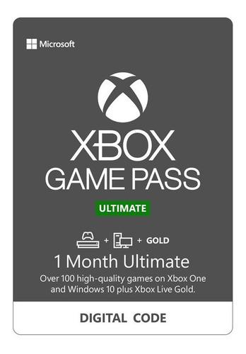 membresia xbox game pass ultimate 1 mes mas de 100 juegos