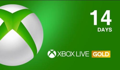 membresía xbox live gold 14 días envío gratis inmediato