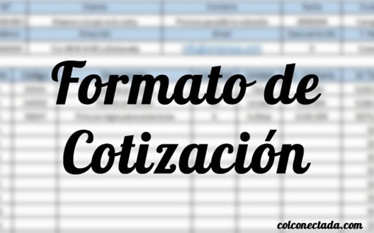 formato para cotizacion word