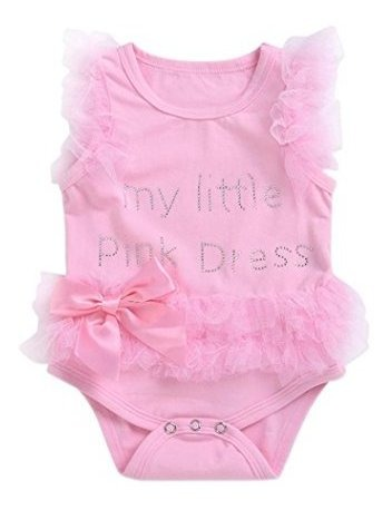 Memela Newborn Girls Sweet Frilled Bodysuit Onesies