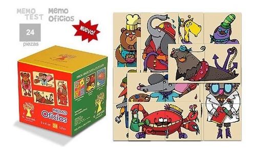 memo oficios juego de memoria y puzzles 2 piezas didactikids