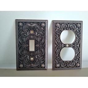 3e150830b567 Tapas Cubre Contactos Electricos Tipo Antiguo Grabadas Cobre