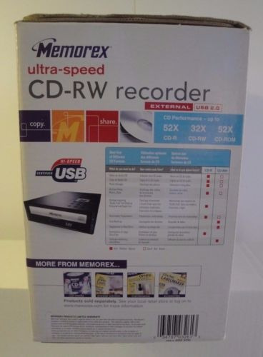 memorex ultra velocidad grabadora 52x cd-r cd-rom 32x cd-rw