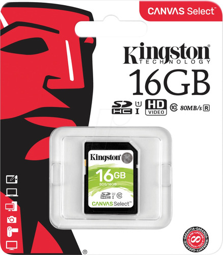 memoria 16gb kingston sdhc