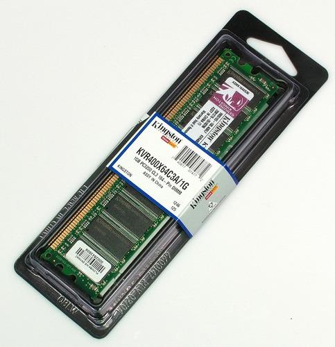 memoria 1gb ddr 400 pc3200 kingston baja densidad nuevas