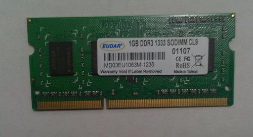 memoria 1gb ddr3, para laptop