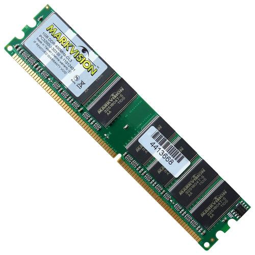 memória 1gb ddr400 pc3200 markvision 184pinos desktop c/ nfe