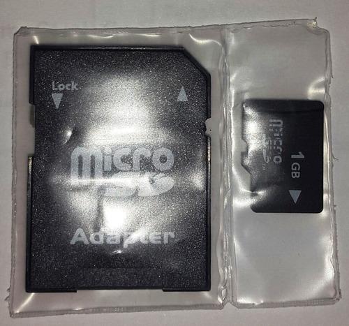 memoria 1gb micro sd con adaptador sin blister