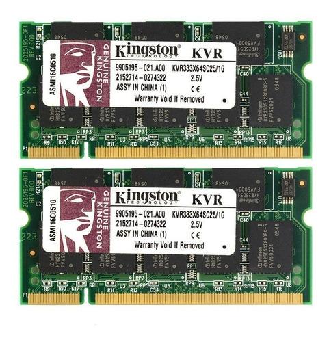 memória 1gb pc2700 ddr333 notebook kingston original hp dell