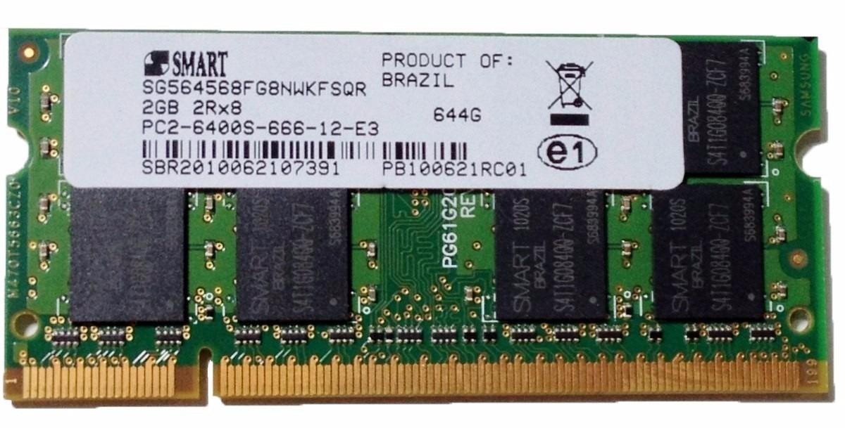Memoria 2gb Ddr2 800 Mhz Pc2 6400 Smart Ou Samsung