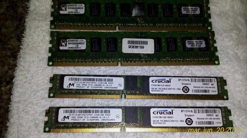 memoria 2gb ddr3 ecc reg 1333mhz pc10600 servidor de marca