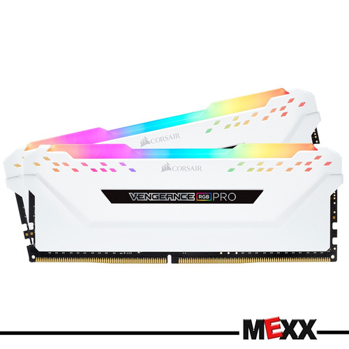 memoria 32gb 2x16 3000 ddr4 corsair vengeance rgb white mex3