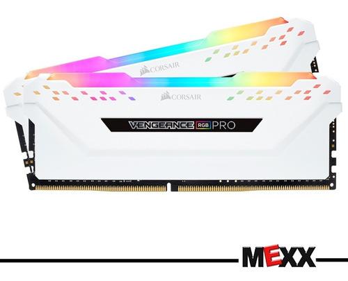 memoria 32gb 2x16 3000 ddr4 corsair vengeance rgb white mexx