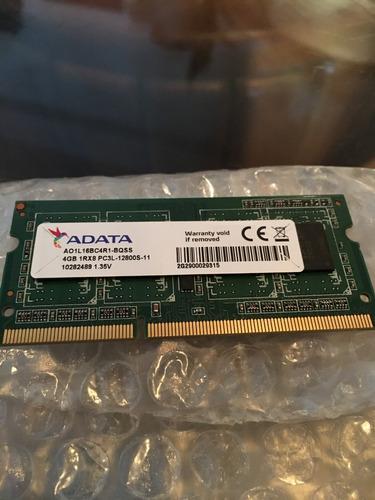 memoria 4gb ddr3 sodimm adata 12800mhz para laptop