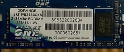 memoria 4gb ddr4-2133mhz sodimm notebook garantia/nf m.one