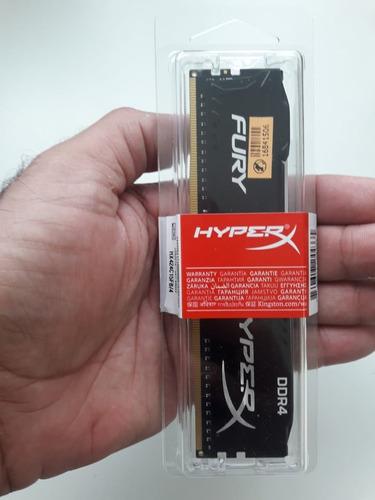 memoria 4gb ddr4 2400 hyper-x fury black - hx424c15fb/4