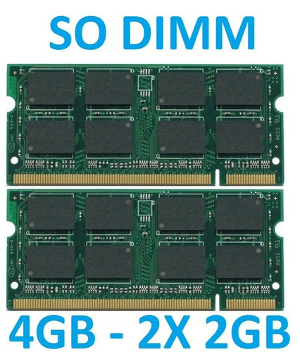 memoria 4gb notebook ddr2