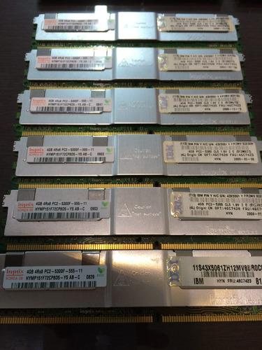 memoria 4rx8 fb-dimm 4gb pc2-5300f-555-11 p/ hp ibm dell