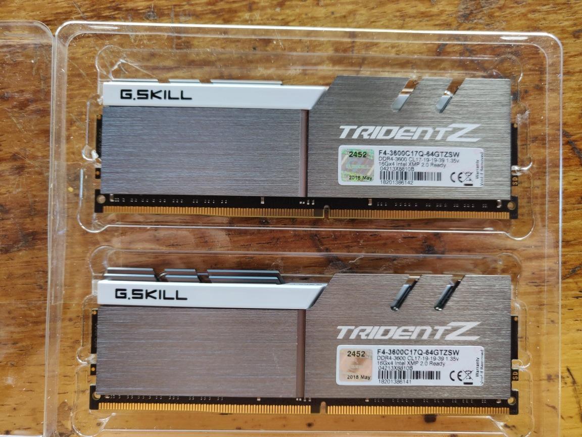 Memoria 64gb Ddr4 3600mhz Tridentz Samsung B-die 4x16gb