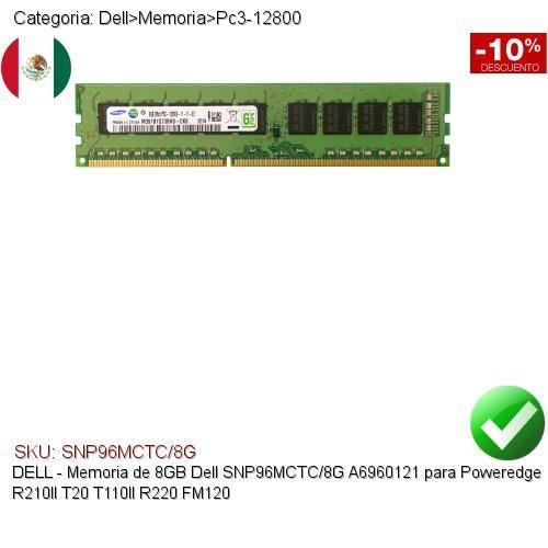 8GB MEMORY FOR DELL POWEREDGE T110 II SNPP51RXC//8G