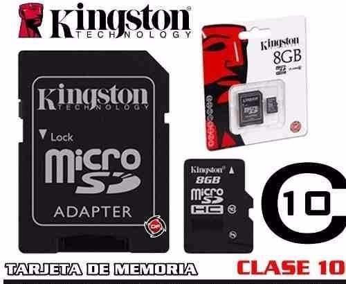 tarjeta de memoria 8gb clase 10