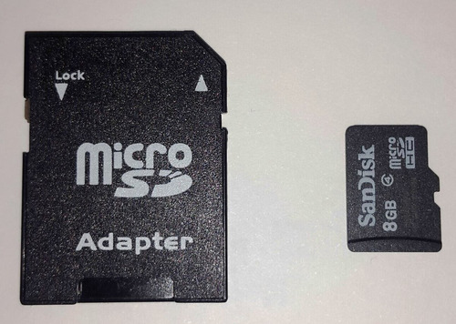 memoria 8gb micro sd con adaptador sin blister