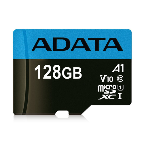 memoria adata micro sd xc 128gb cl10 uhs-i con adaptador sd