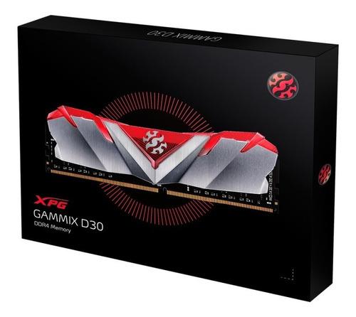 memória adata xpg gammix d30 16gb (2x8gb) ddr4 3000mhz