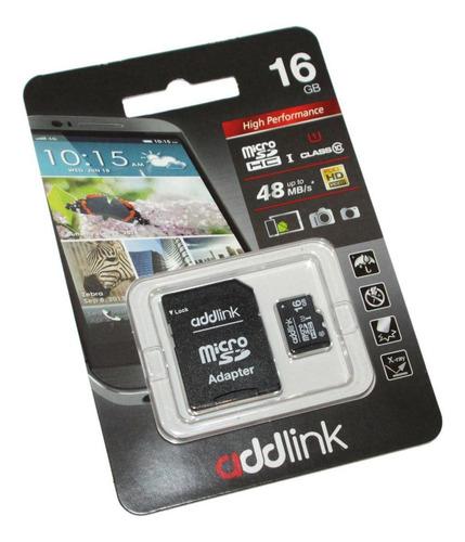 memoria addlink micro sd + adapt sd 16 gb clase 10