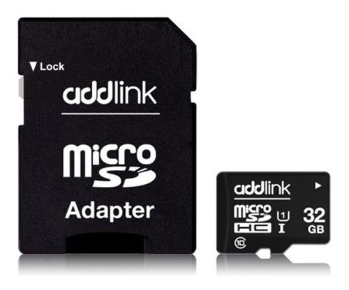 memoria addlink  micro sd + adapt sd 32 gb clase 10