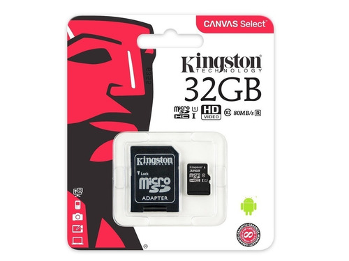 memoria celular kingston microsd 32gb clase 10 - factura a b