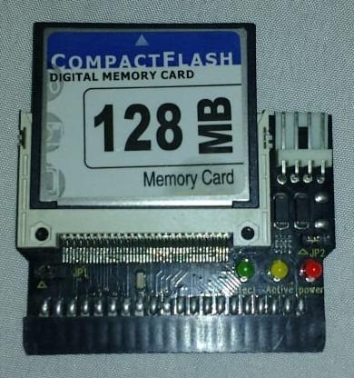 memoria compact flash 128mb + adaptador cf -frete grátis brasil