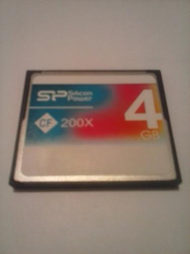 memoria compact flash sp cf200x de 4gb