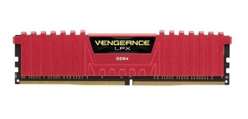 memória corsair lpx red 8gb ddr4 2400 mhz c16 1x288 1.20v