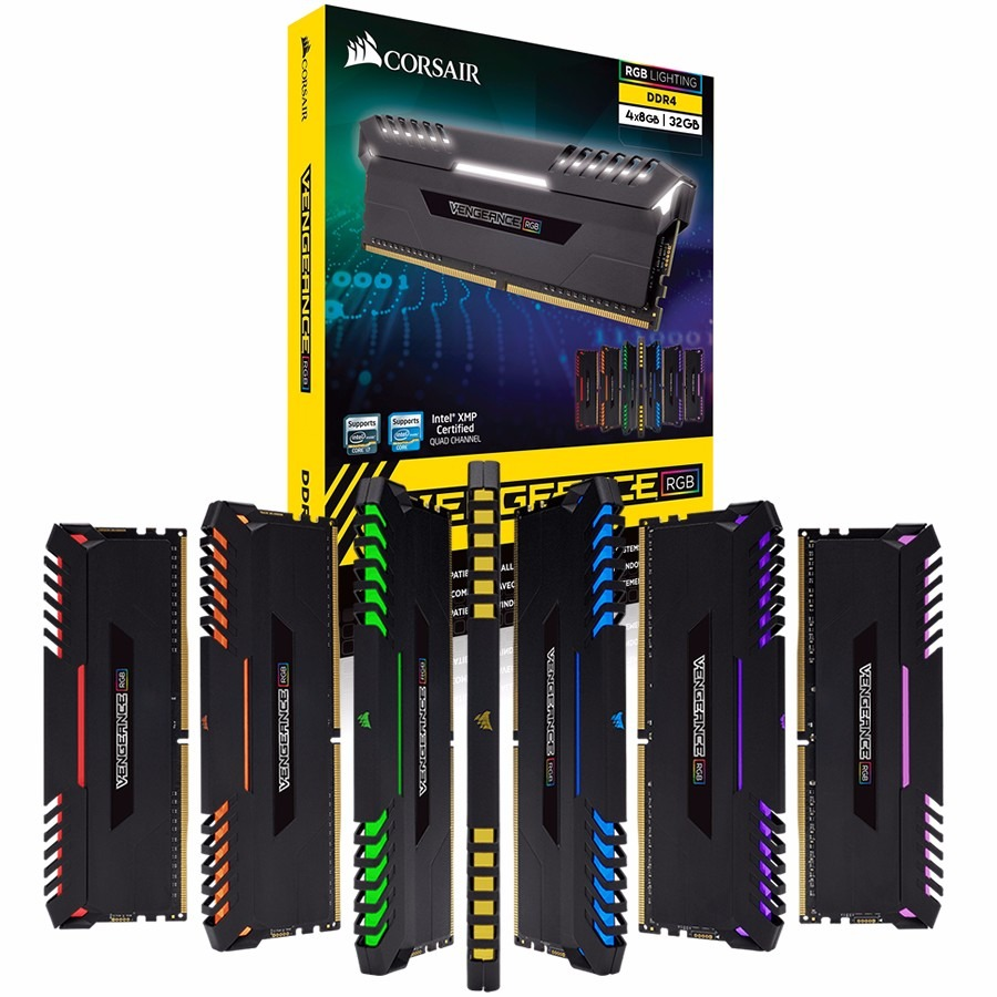 Memoria Corsair Vengeance Led Rgb 32gb 4x8gb Ddr4 3000mhz