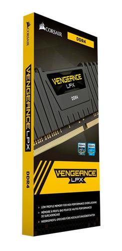 memória corsair vengeance lpx 4gb 2400mhz ddr4 cl14 black