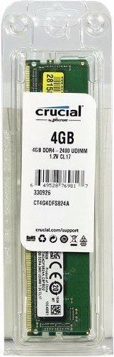 memória crucial 4gb 2400mhz ddr4 cl17 - ct4g4dfs824a