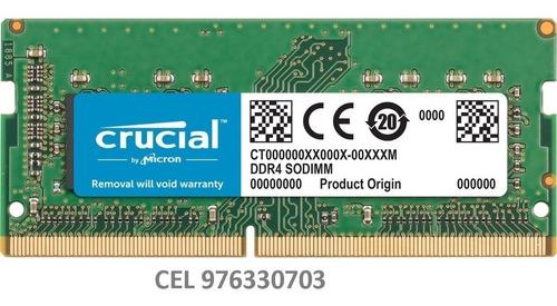 memoria crucial  8gb ddr3 1600mhz  1.35 v laptop / nuevo