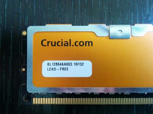 memoria crucial ballistix ddr2 667 mhz 1 gb ram